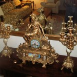 French clock and garniture
