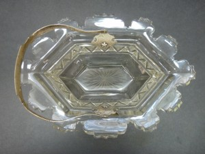 Glass/Silver Basket