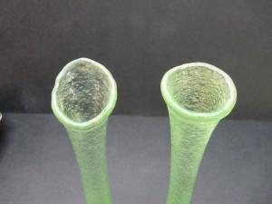 Pr. bud vases-green