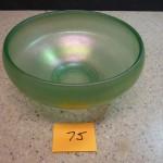 Green Irridescent Bowl