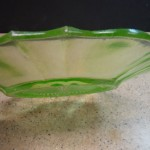 Irridescent Green Bowl