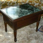 folsom estate sale marble top table