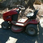 shingle springs estate sale, riding lawnmower