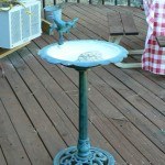 shingle springs estate sale, birdbath