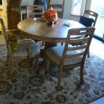 shingle springs estate sale, oak dining room table and chairs