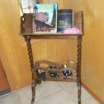 shingle springs estate sale, antique bible stand