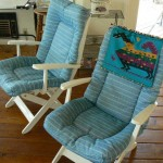 shingle springs estate sale, pair of deck chairs