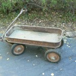 shingle springs estate sale, vintage wagon