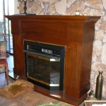 shingle springs estate sale, electric fireplace and mantle