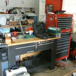 cameron park estate sale Craftsman workbench and tool chest