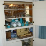 Danish coffee set, teapots, flatware, crystal