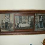Antique prints in triple frame