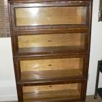 Antique oak stack bookcase