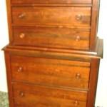 Maple highboy dresser