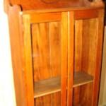 Antique oak double door bookcase