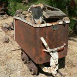 Antique Ore cart and tracks