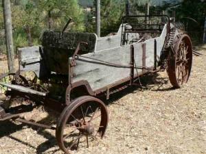 Antique horse drawn wagon