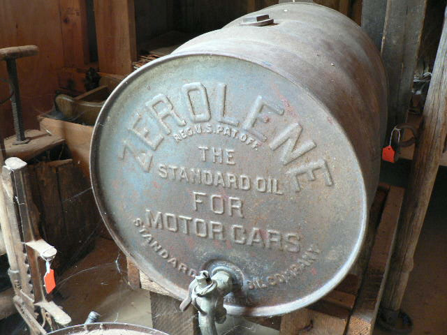 The motherload estate sale antique railroad mining for Motor oil by the barrel
