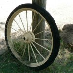 Antique spoked wheel