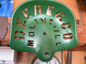 Antique tractor seat, Deere & Co., Moline, Ill.