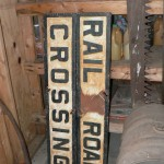 Cast Iron RR crossing sign