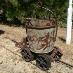 Large ore bucket  and cart