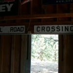 Rare antique cast iron Rail Road Crossing Signs, two sets