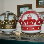 Red Crown gasoline pump globes