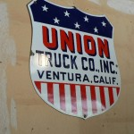 Vintage porcelain Union Truck Co. sign