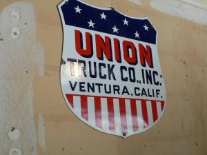 Vintage porcelain Union Truck Co. sign