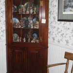 Corner cherry cabinet