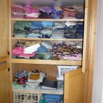 Shelves of quilting fabric