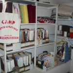 Shelves of quilting publications