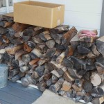 Woodpile and holder