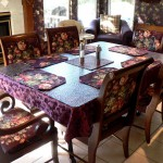 Double pedestal dining room table and chairs