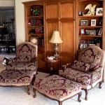 French chairs and ottomans