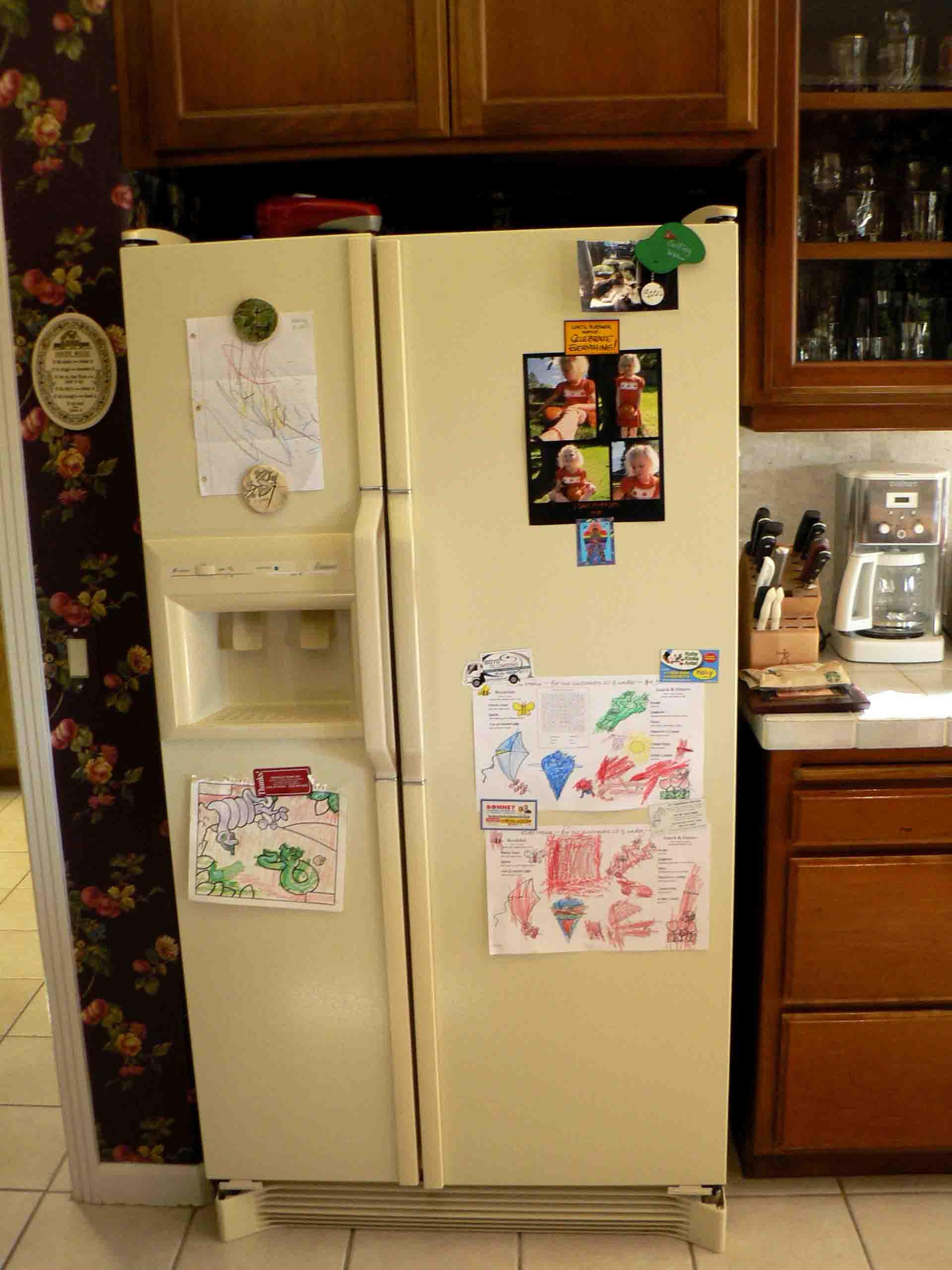 Ivory Side By Side Refrigerator