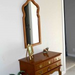 Oak console and mirror