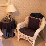 Wicker chair and decorator table