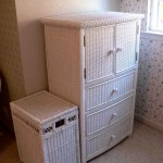 Wicker high chest and hamper