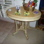 Antiqued Victorian parlor table