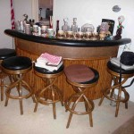 Bamboo Tiki Bar and stools