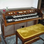 Conn electric organ and bench