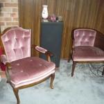 Dusty rose velvet arm chairs