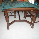 Vintage draw leaf table and chairs