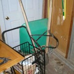 Wheelbarrow and shopping cart