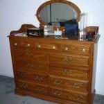Wide oak dresser