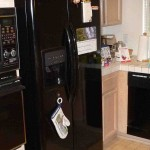 black side by side refrigerator