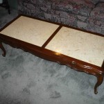 stone insert coffee table