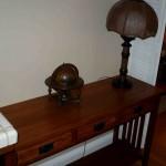 sofa table lamp and globe